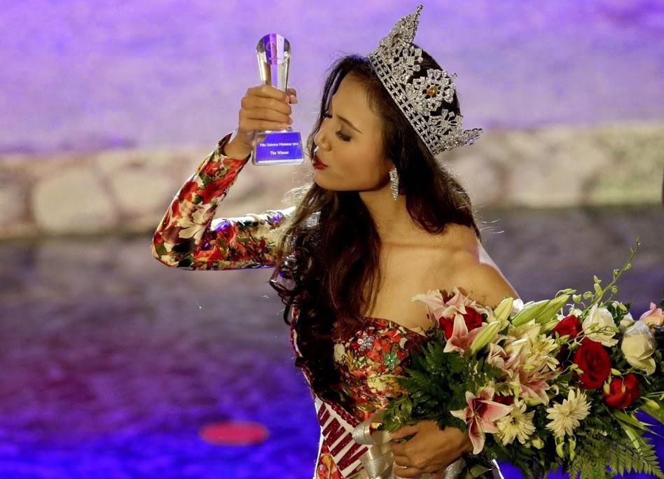 Miss Universe Myanmar 2014 winner Sharr Htut Eaindra