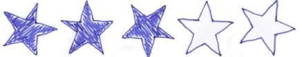 drei Sterne Rezension Bewertung