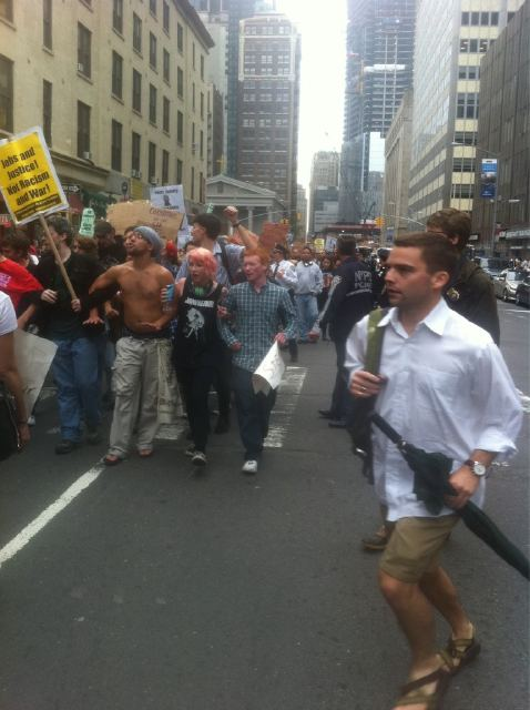 Protests Around Wall Street, finance, money, wall street