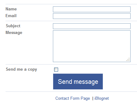 add contact form to your blogger blog
