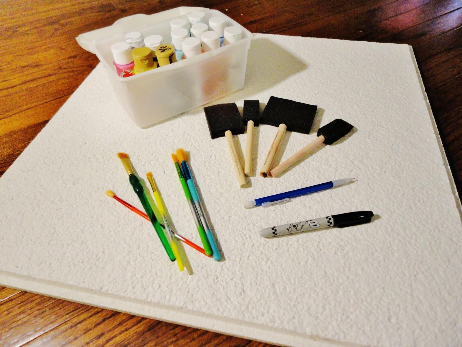 Lets make ceiling tile art the inspired apple lets make ceiling tile art dailygadgetfo Choice Image