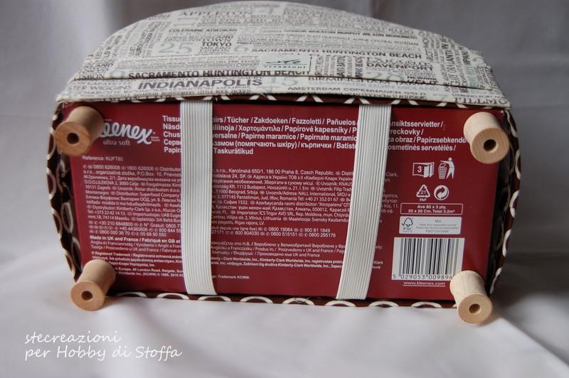 Hobby di stoffa by hdc un divano porta kleenex - Scatola porta rocchetti ...