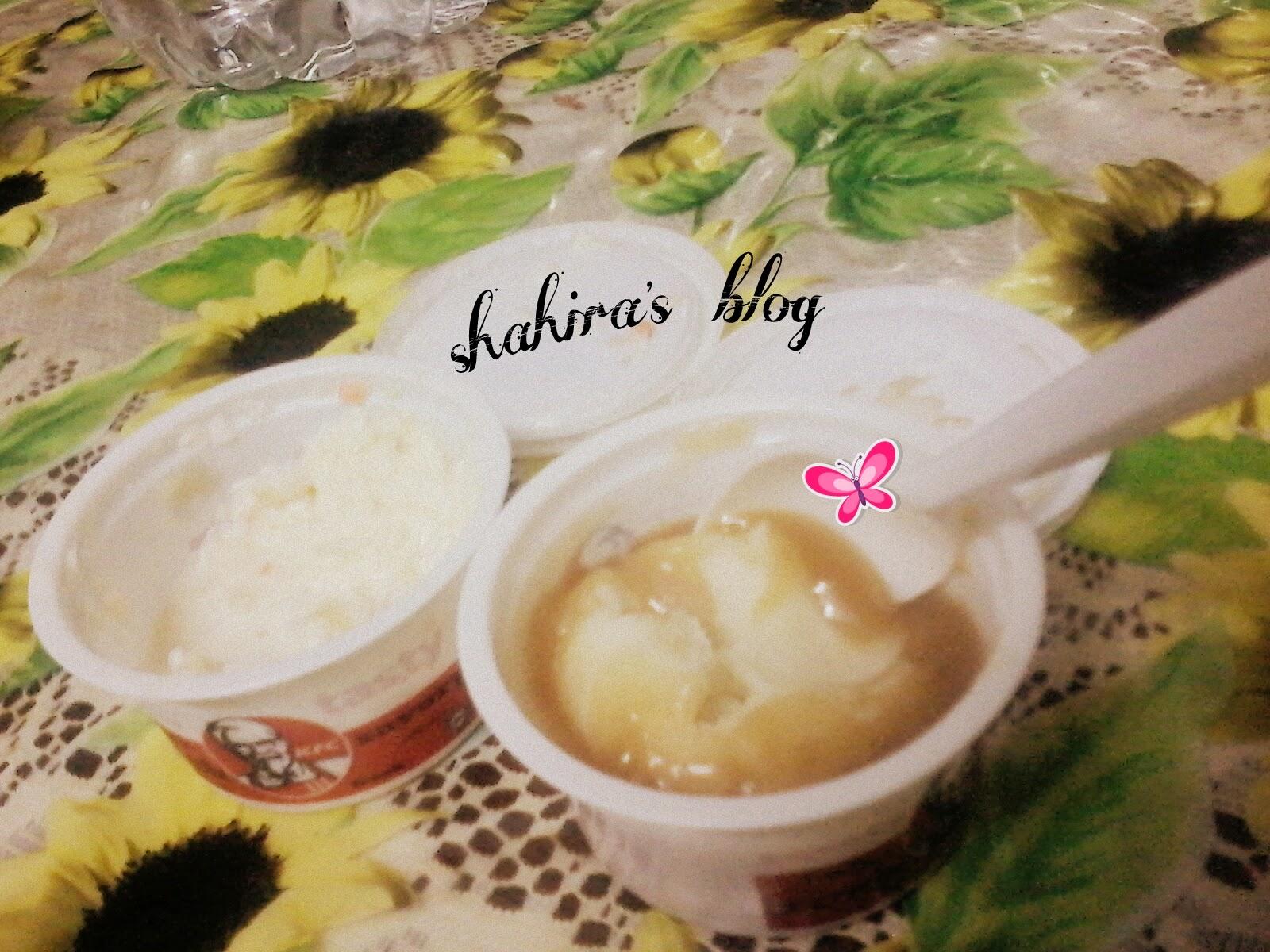 KFC whipped potato and coleslaw