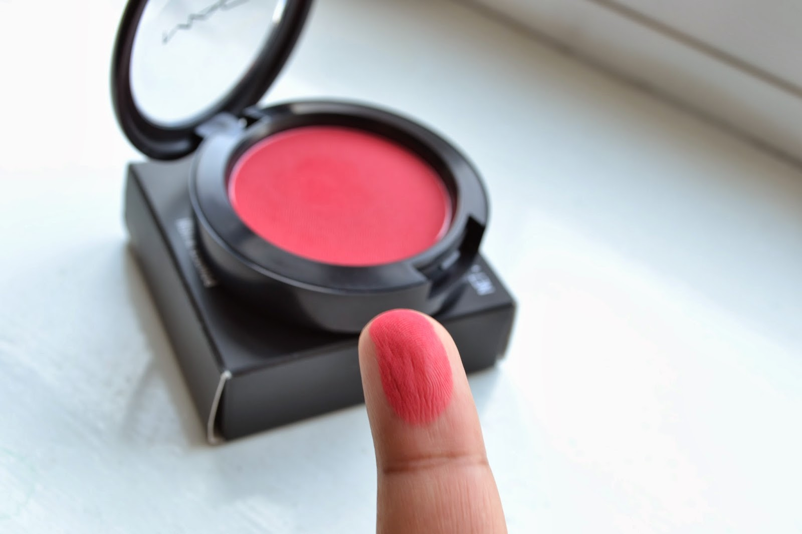MAC Frankly Scarlet Blush Swatch - Beauty by Eff