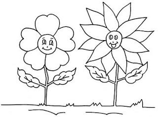 Desenhos Para Colori Girassol e flor    desenhar