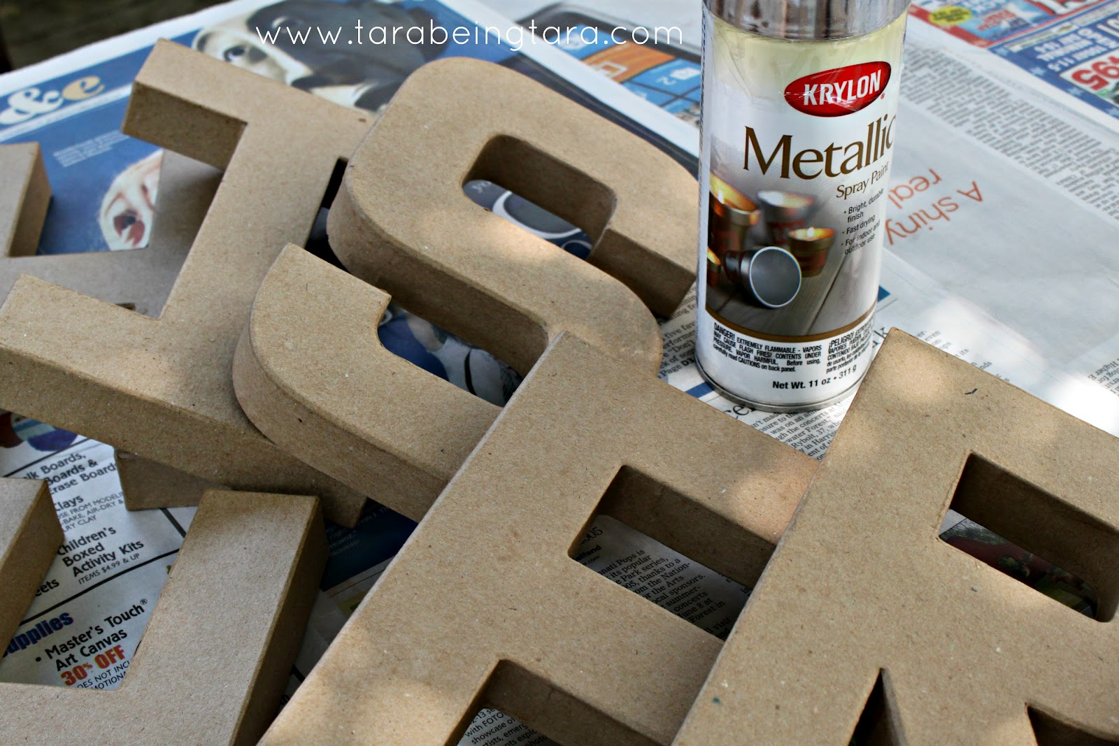 we started with these paper mache letters from hobby lobby at 247 a pop they were a steal we went with the paper mache version because they were