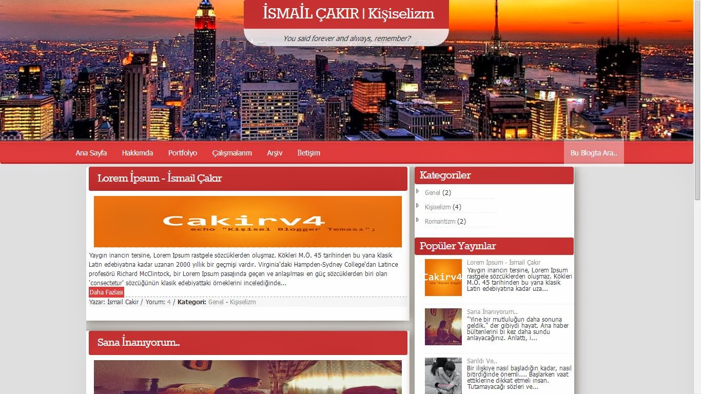 Cakır v4 Kişisel Blogger Teması