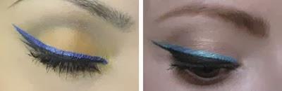 make olhos com dois traços de delineado colorido