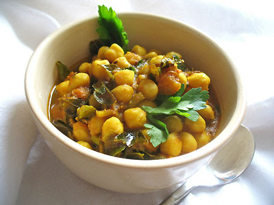 tangy chickpeas