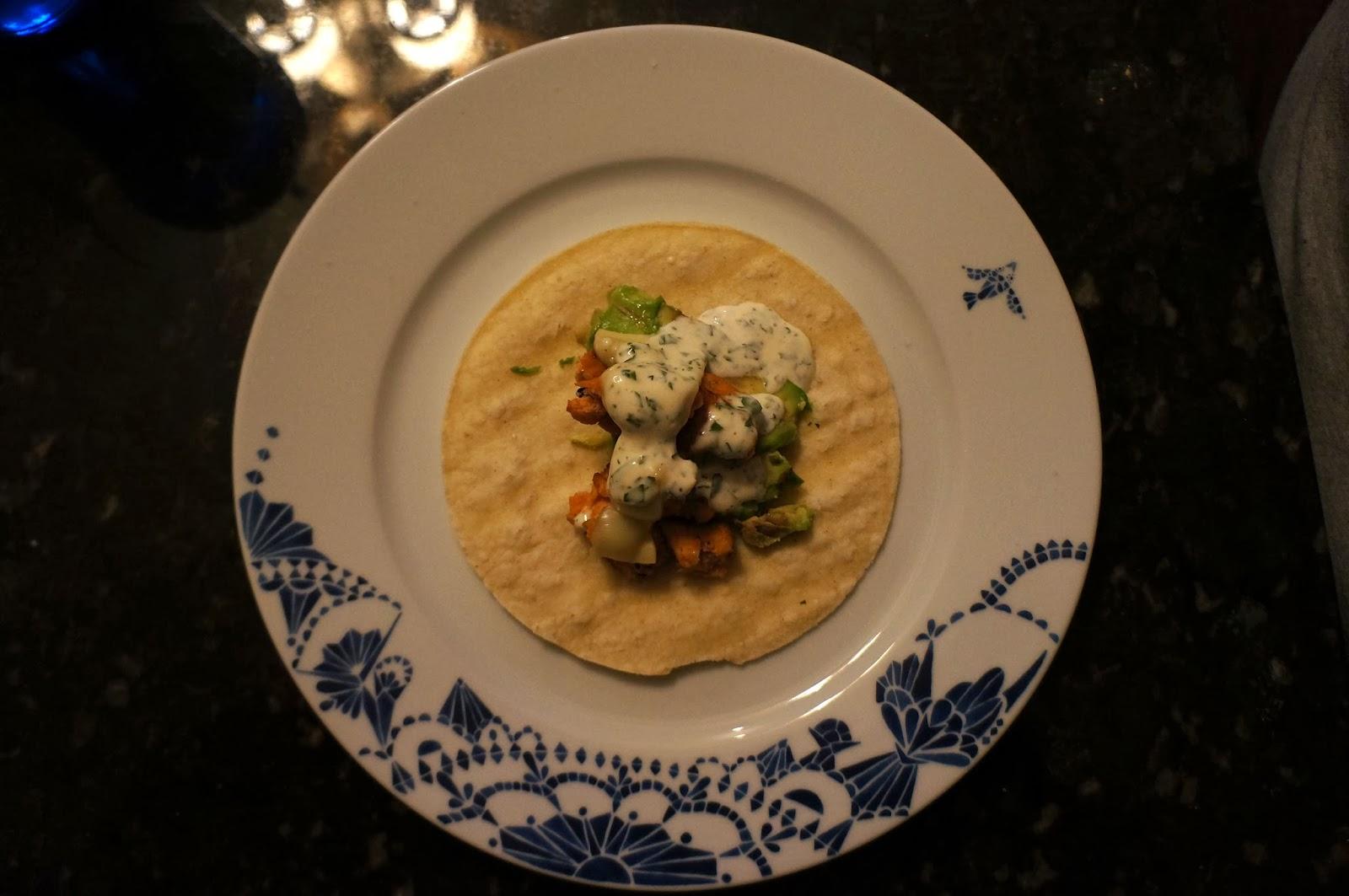 Fish Tacos with Cilantro Lime Sauce Recipe