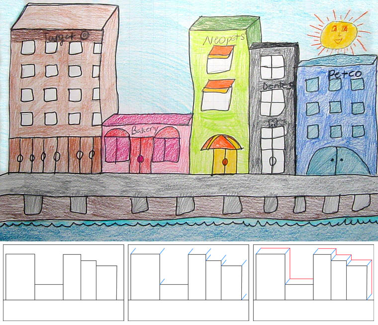 how to draw city buildings art projects for kids