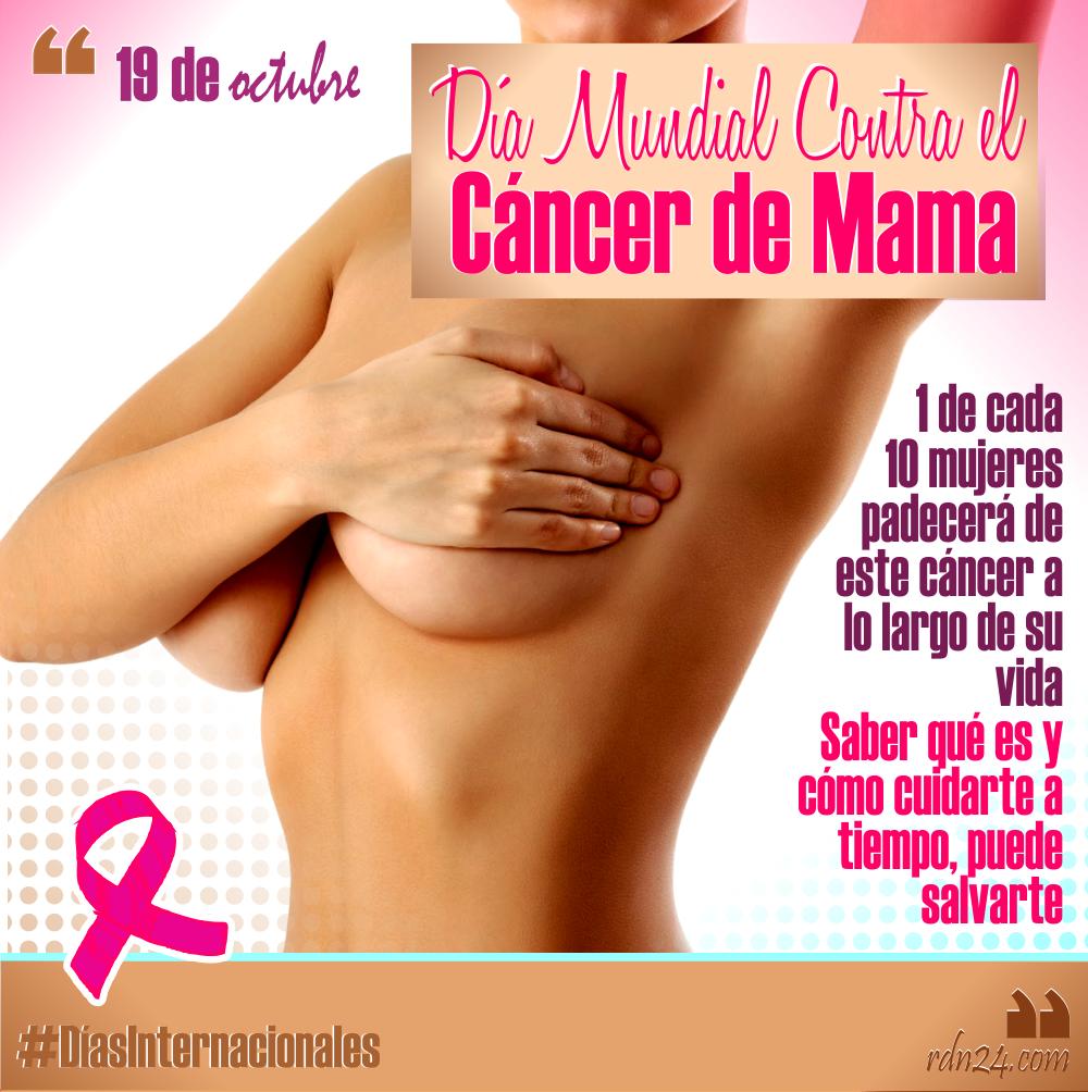 19 de octubre: Día Mundial Contra el Cáncer de Mama #DíasInternacionales