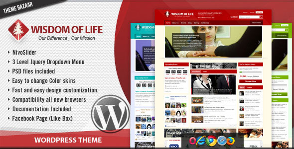 Wisdom Of Life WordPress Theme Free Download by ThemeForest.