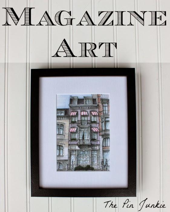 Framed-magazine-art