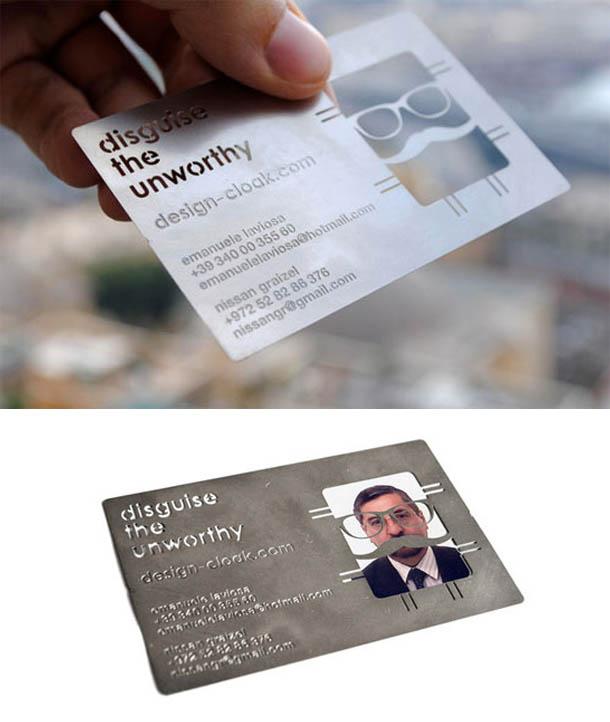cartões de visita criativos - Disguise the unworthy
