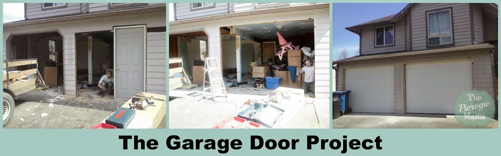 The Pierogie Mama: Under Construction: new garage doors