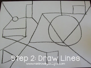 abstract drawing lines www.rainbowlilydesigns.com