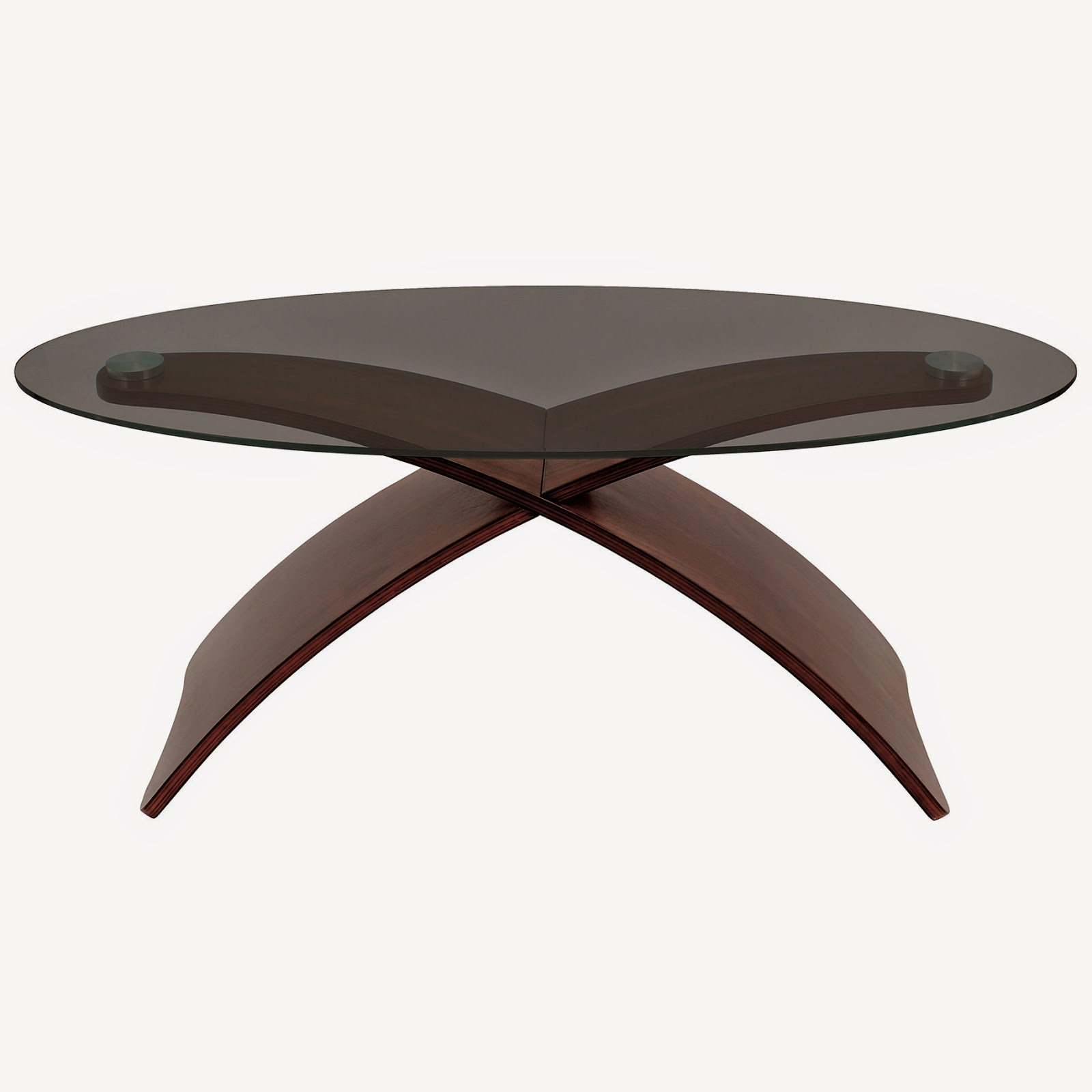 25 elegant oval coffee table designs made of glass and wood for Contemporary glass top coffee table