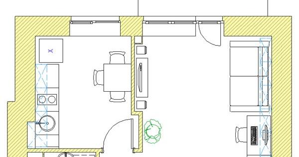 Дизайн однокомнатной квартиры: планировочное решение одноком.