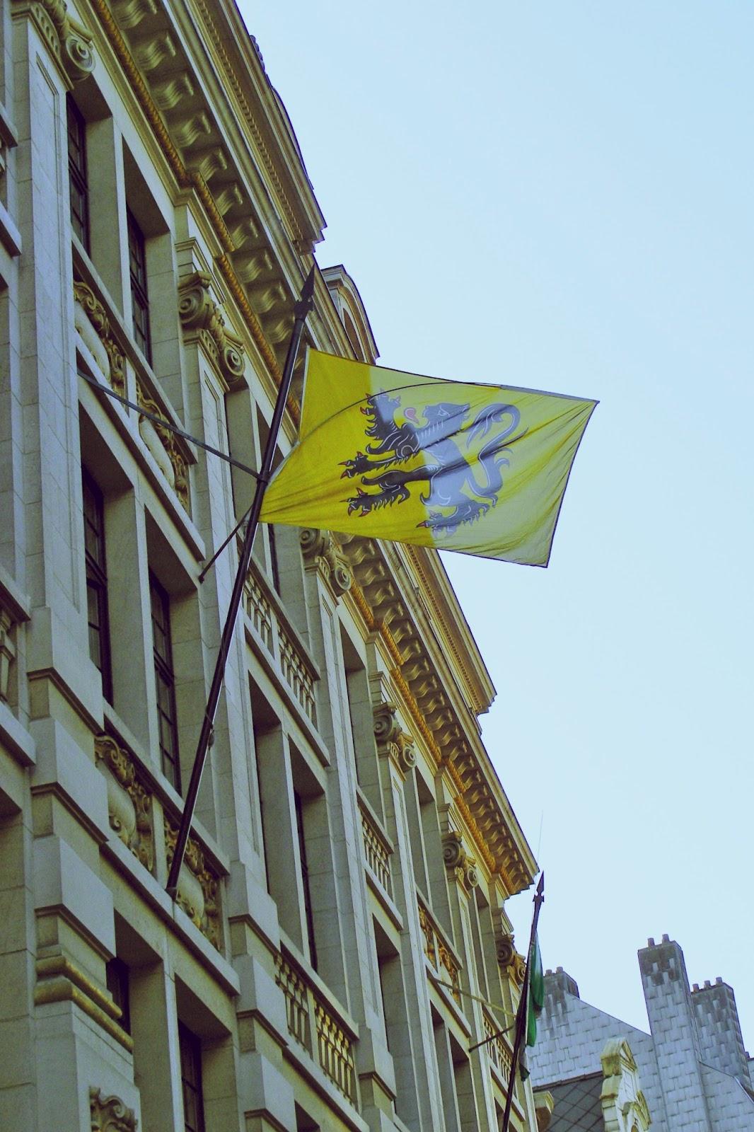 drapeau de la Belgique à Bruxelle
