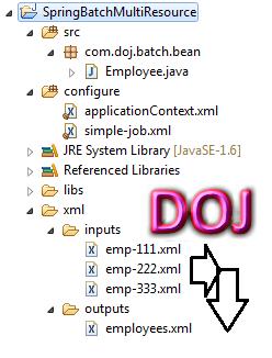 MultiResourceItemReader in Spring Batch Example