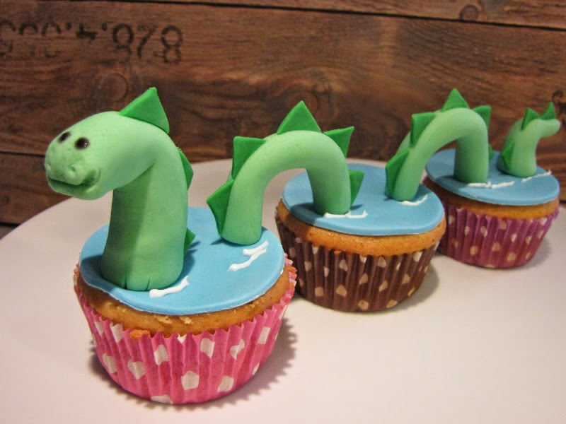 Nessie Monster Cupcakes