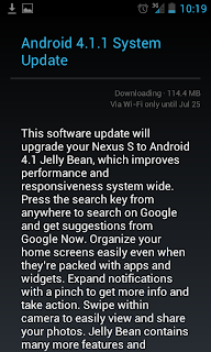 android 41 update for nexus s via ota