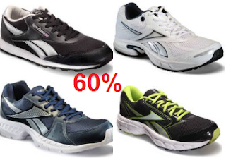 Buy Reebok Casual & Sport Shoes at Extra 60% Cashback.:buytoearn
