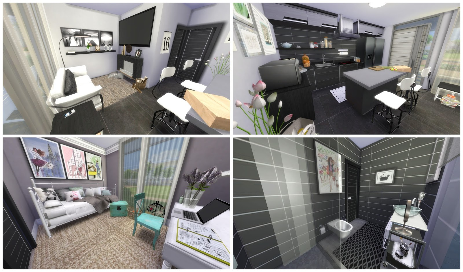 Sims 4 Small Modern House Dinha