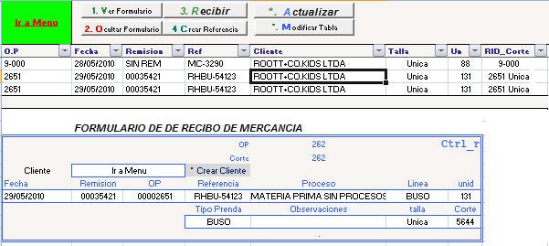 Soluciones en Excel Control Produccion Confeccion