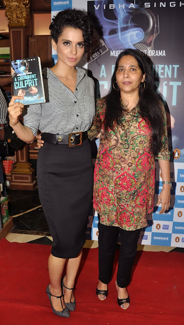 Kangana Ranaut, Vibha Singh, Book, Showbiz, Education, Launch, Convenient Culprit, Author, Mumbai, India, Ceremony, Writer, Bollywood, Actress,