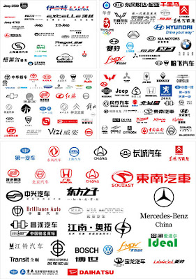 Red Automotive Logos Labels: all car logos, car