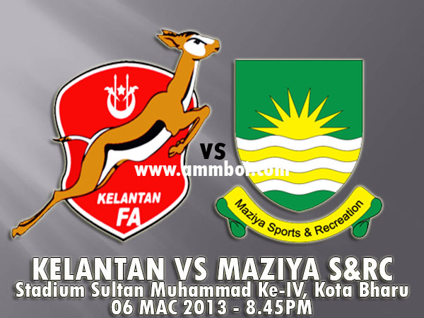 Keputusan Kelantan vs Maziya Sports & Recreation Club 6 Mac 2013 - Piala AFC 2013