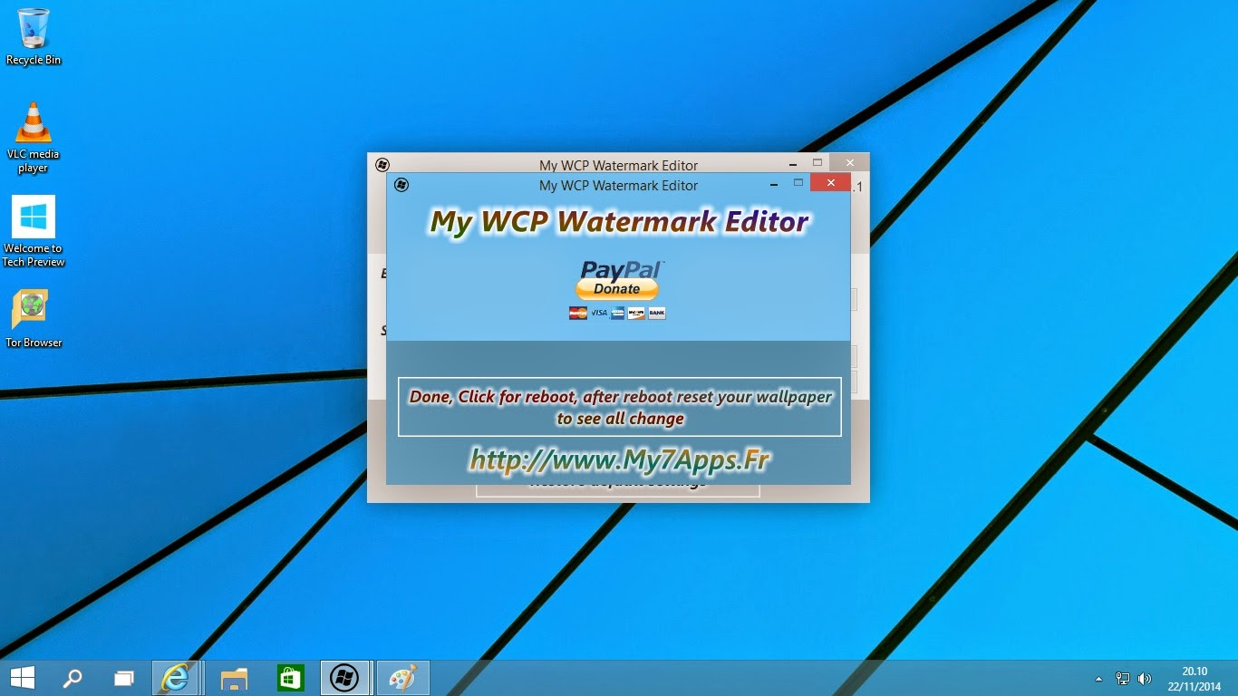 Remove Watermark Windows 10 Technical Preview