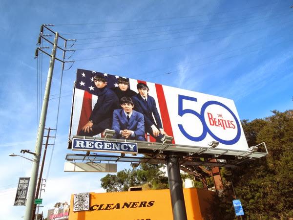 The Beatles 50 music billboard