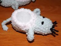 patuco o escarpín de crochet