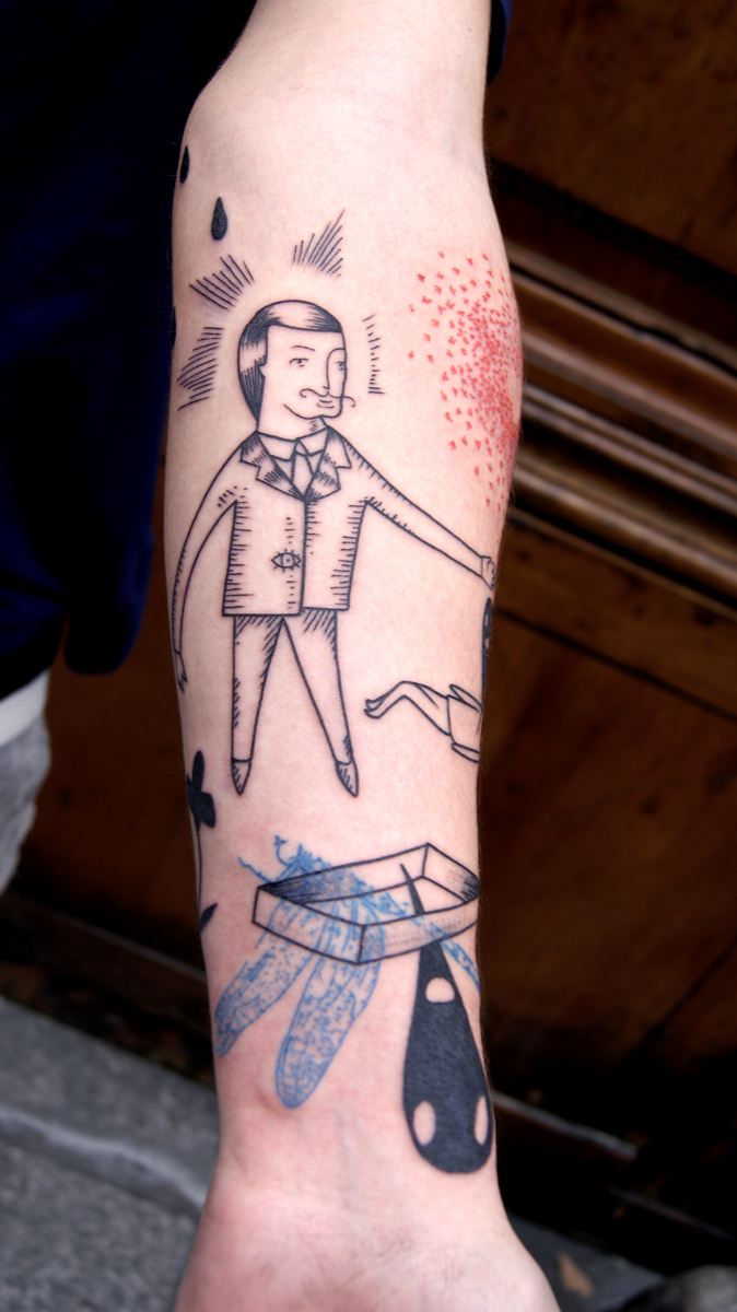 Bien connu lionel Fahy Out Of Step: Tattoo of the day at Art Corpus with Gaetan. UR45