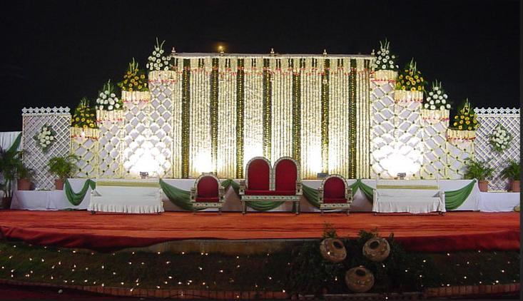 A wedding planner indian wedding stage decorations and for Background decoration for indian wedding