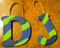 DIY Painted Wood Letters Holiday Gift by UpcycleFever