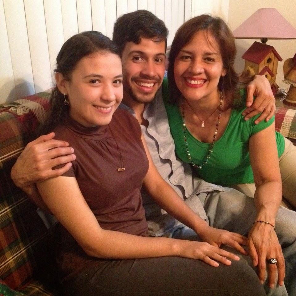 Con mis hijos bellos... diciembre 2014