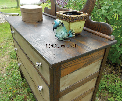 KarlyesAntiqueDresser10 Guest Post: Antique Dresser Refinish from Denise&hellip;On a Whim