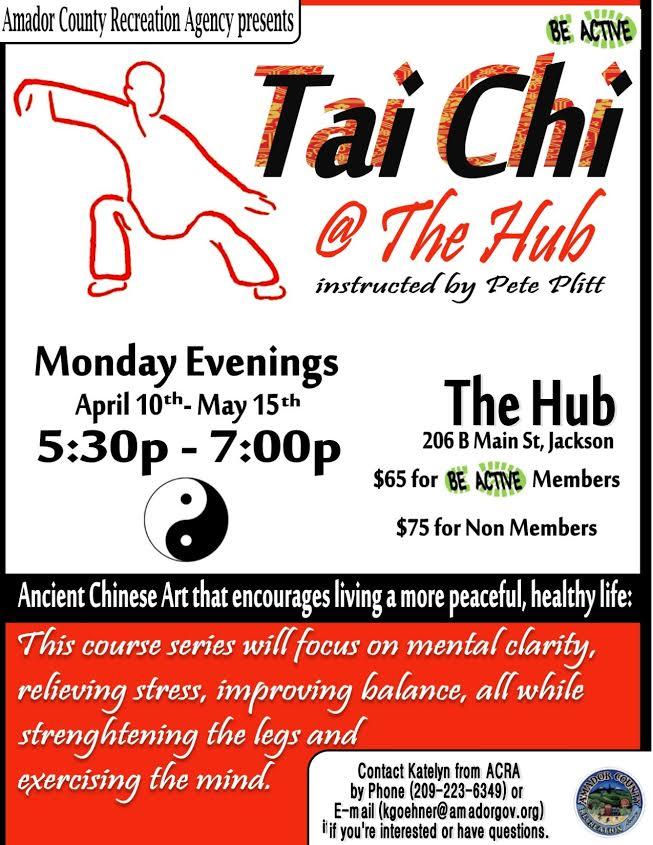 Tai Chi - Mondays, Apr 10 thru May 15