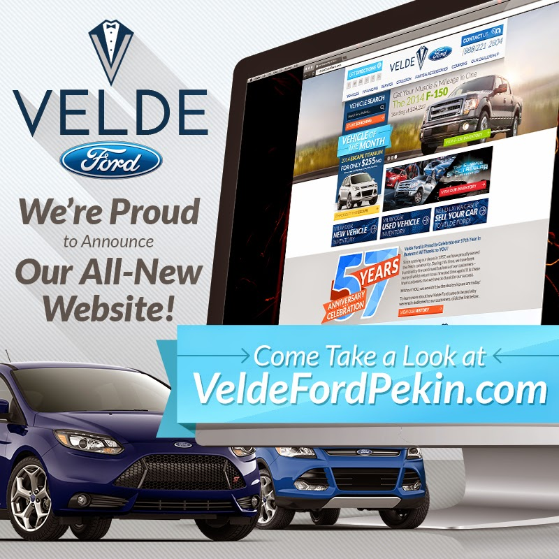 Velde Ford Pekin's BRAND-NEW Website Has Gone LIVE!