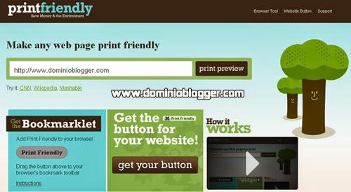 Imprime cualquier sitio web usando PrintFriendly