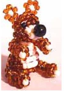 Животные из бисера объемные медведь