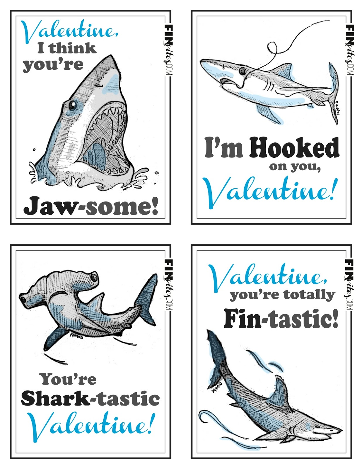 It's just a picture of Vibrant Free Shark Printables