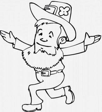 Dibujos de San Patricio para Colorear, parte 4