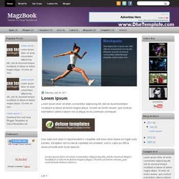MagzBook blogger template. blogger template 3 column