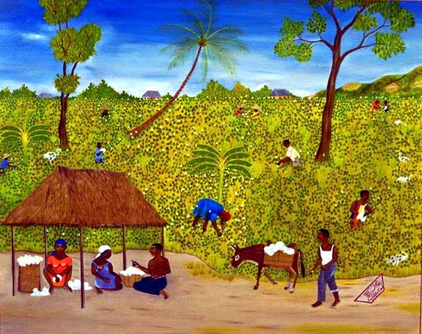 Haitianarts painting naive cotton