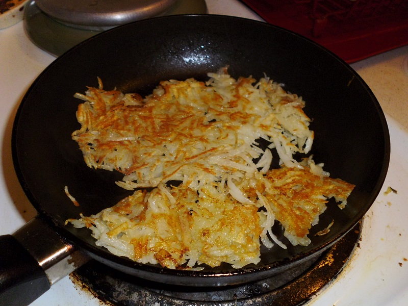 Cooked hashbrowns